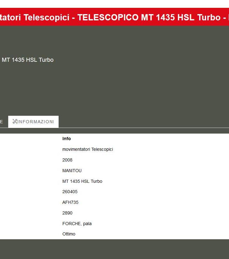 TELESCOPICO MT 1435 HSL Turbo